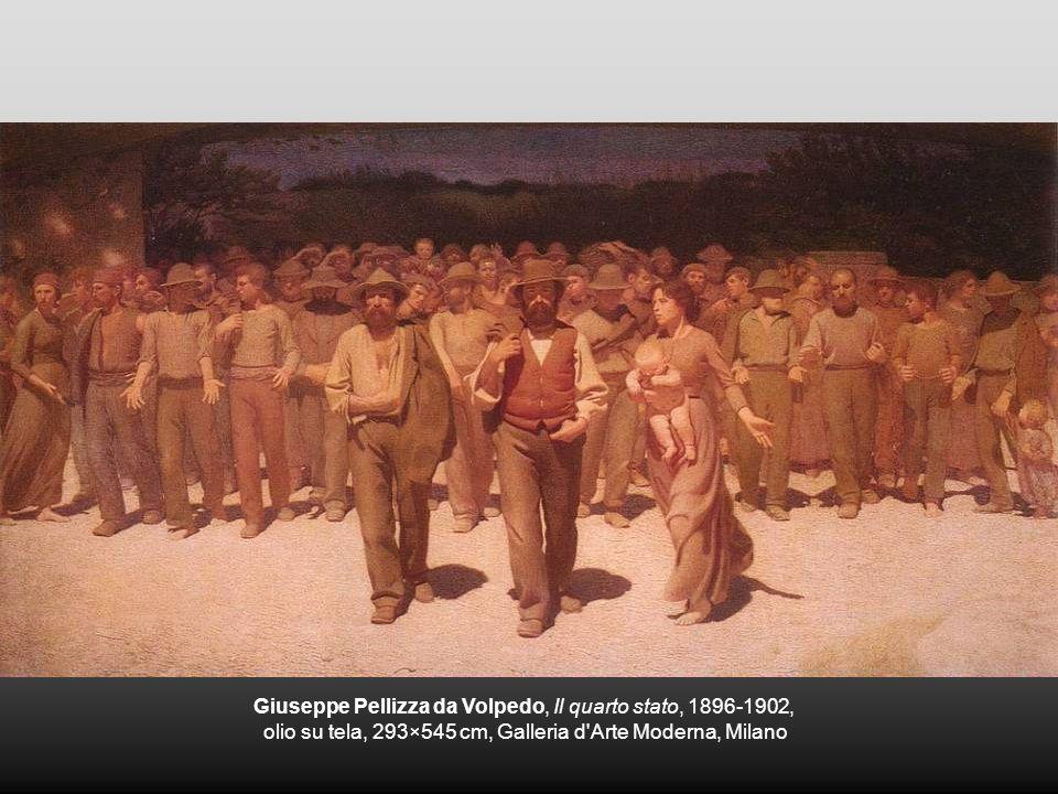Giuseppe Pellizza da Volpedo, Il quarto stato, 1896-1902, olio su tela, 293×545 cm, Galleria d'Arte Moderna, Milano