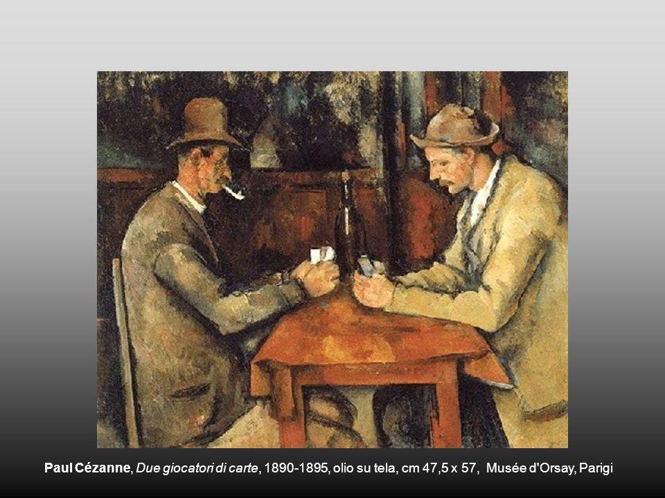 Paul Cézanne, Due giocatori di carte, 1890-1895, olio su tela, cm 47,5 x 57, Musée d'Orsay, Parigi
