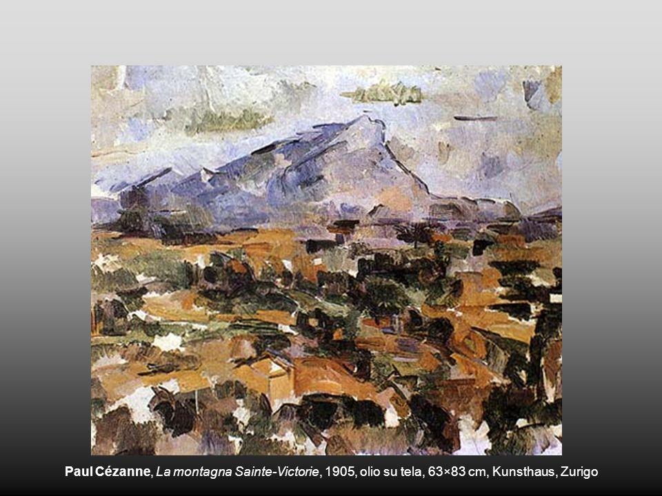 Paul Cézanne, La montagna Sainte-Victorie, 1905, olio su tela, 63×83 cm, Kunsthaus, Zurigo