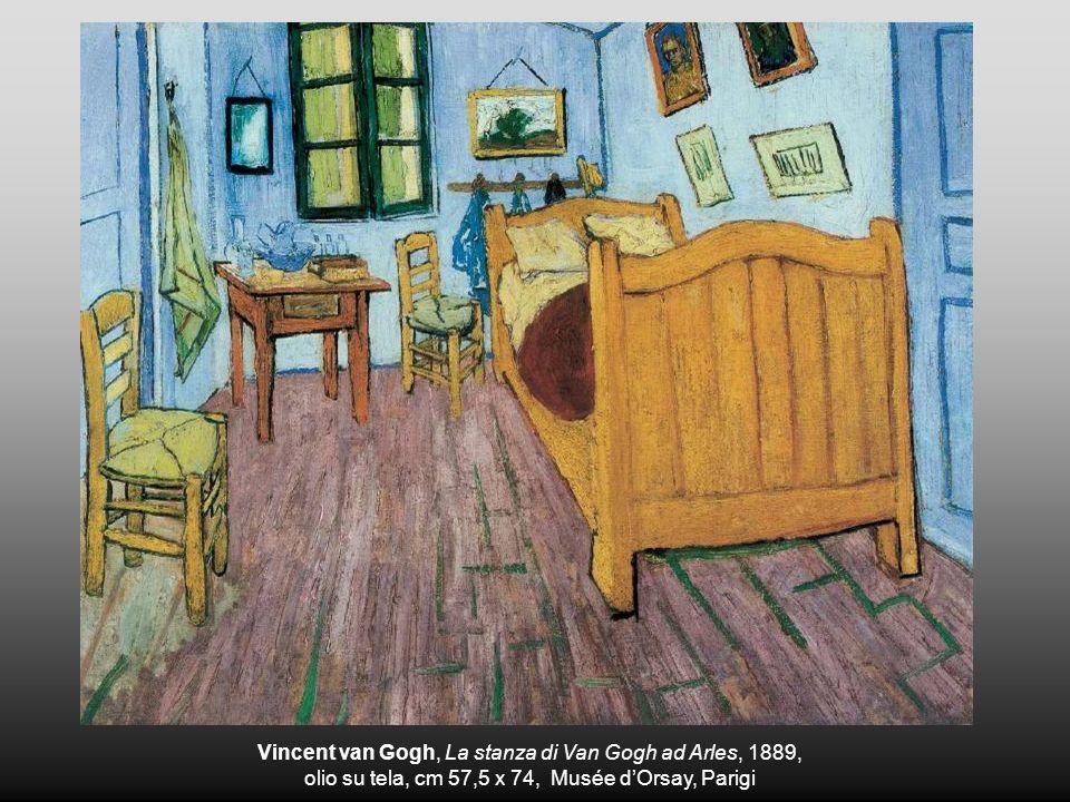 Vincent van Gogh, La stanza di Van Gogh ad Arles, 1889, olio su tela, cm 57,5 x 74, Musée dOrsay, Parigi