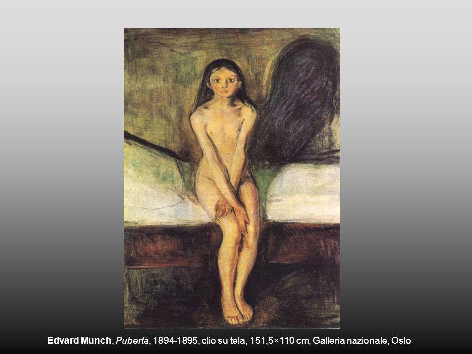 Edvard Munch, Pubertà, 1894-1895, olio su tela, 151,5×110 cm, Galleria nazionale, Oslo