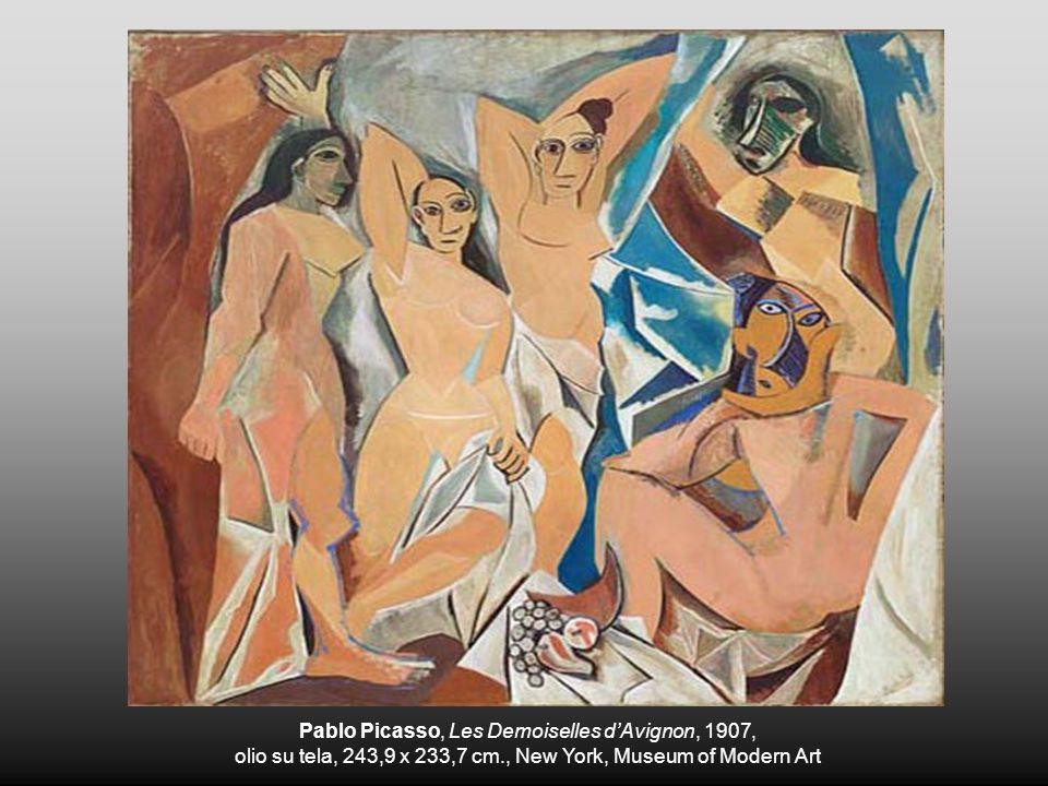 Pablo Picasso, Les Demoiselles dAvignon, 1907, olio su tela, 243,9 x 233,7 cm., New York, Museum of Modern Art