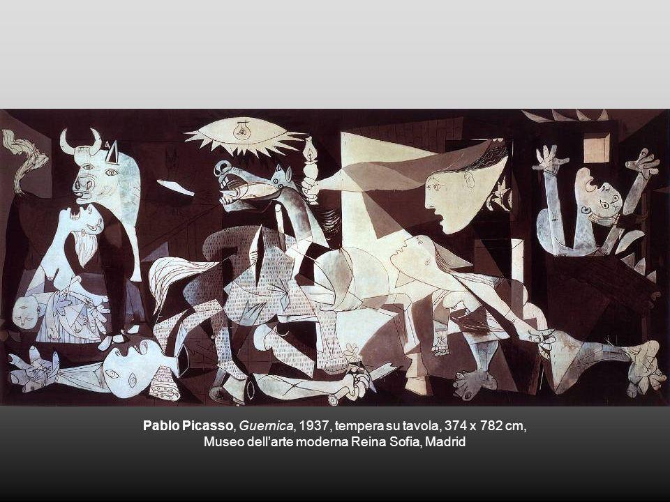 Pablo Picasso, Guernica, 1937, tempera su tavola, 374 x 782 cm, Museo dellarte moderna Reina Sofia, Madrid