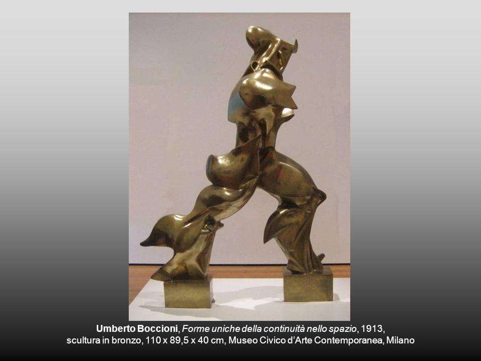 Umberto Boccioni, Forme uniche della continuità nello spazio, 1913, scultura in bronzo, 110 x 89,5 x 40 cm, Museo Civico dArte Contemporanea, Milano