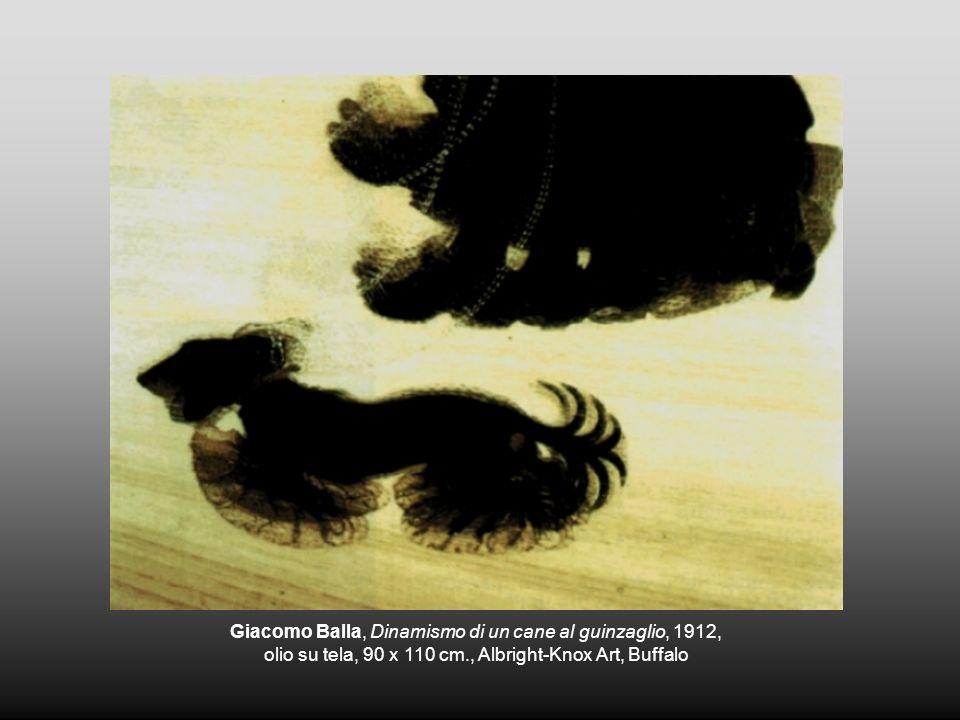 Giacomo Balla, Dinamismo di un cane al guinzaglio, 1912, olio su tela, 90 x 110 cm., Albright-Knox Art, Buffalo