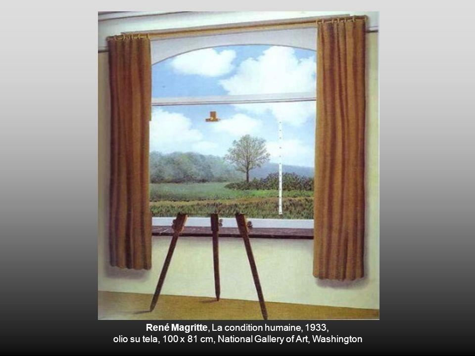 René Magritte, La condition humaine, 1933, olio su tela, 100 x 81 cm, National Gallery of Art, Washington