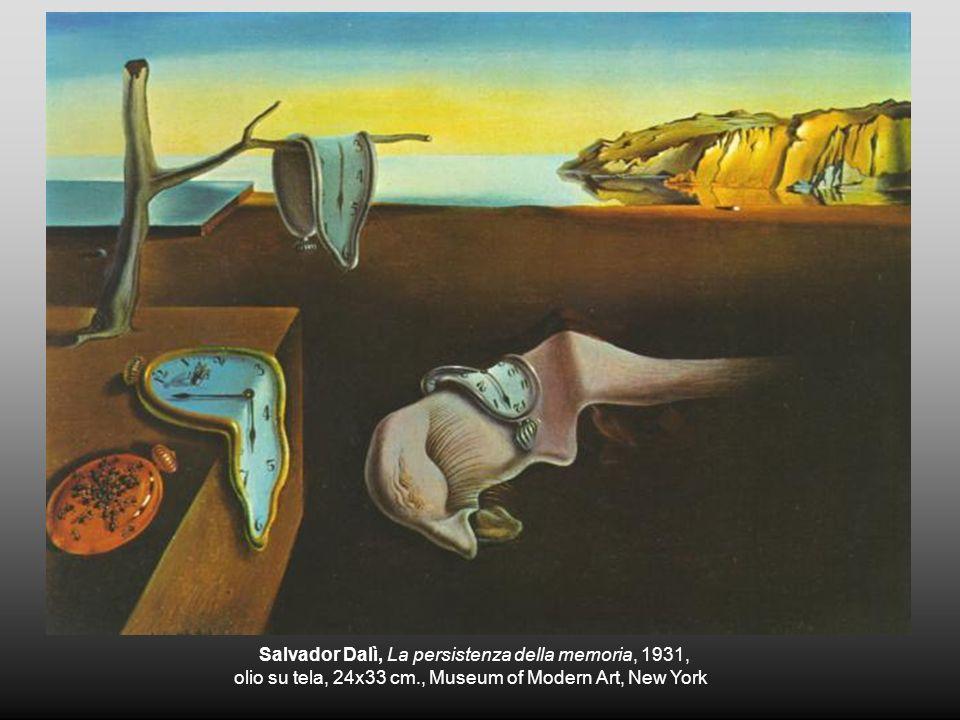 Salvador Dalì, La persistenza della memoria, 1931, olio su tela, 24x33 cm., Museum of Modern Art, New York