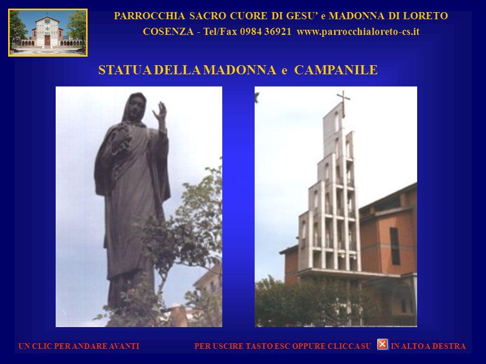 PARROCCHIA SACRO CUORE DI GESU e MADONNA DI LORETO COSENZA - Tel/Fax 0984 36921 www.parrocchialoreto-cs.it UN CLIC PER ANDARE AVANTI AVVENTO 2010 - PR
