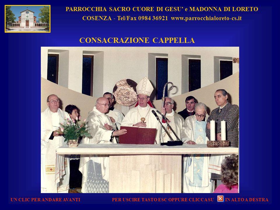 PARROCCHIA SACRO CUORE DI GESU e MADONNA DI LORETO COSENZA - Tel/Fax 0984 36921 www.parrocchialoreto-cs.it UN CLIC PER ANDARE AVANTI SACRO CUORE DI GE
