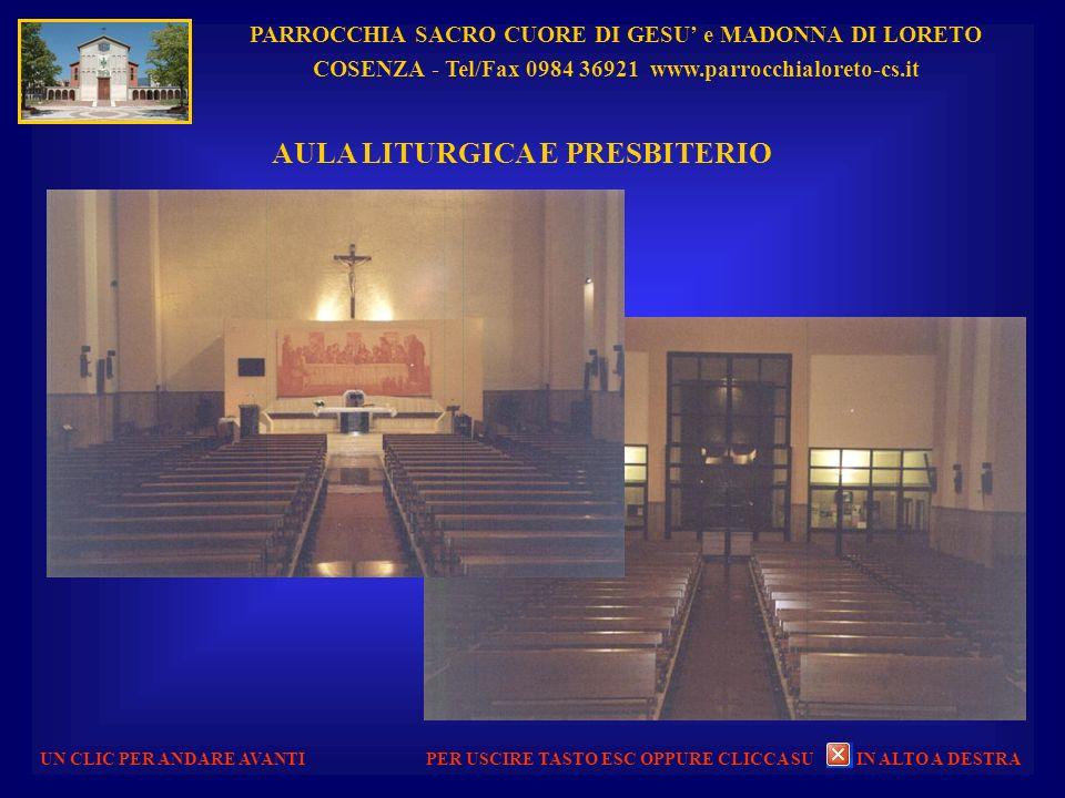 PARROCCHIA SACRO CUORE DI GESU e MADONNA DI LORETO COSENZA - Tel/Fax 0984 36921 www.parrocchialoreto-cs.it UN CLIC PER ANDARE AVANTI PASQUA 2012 - PRE