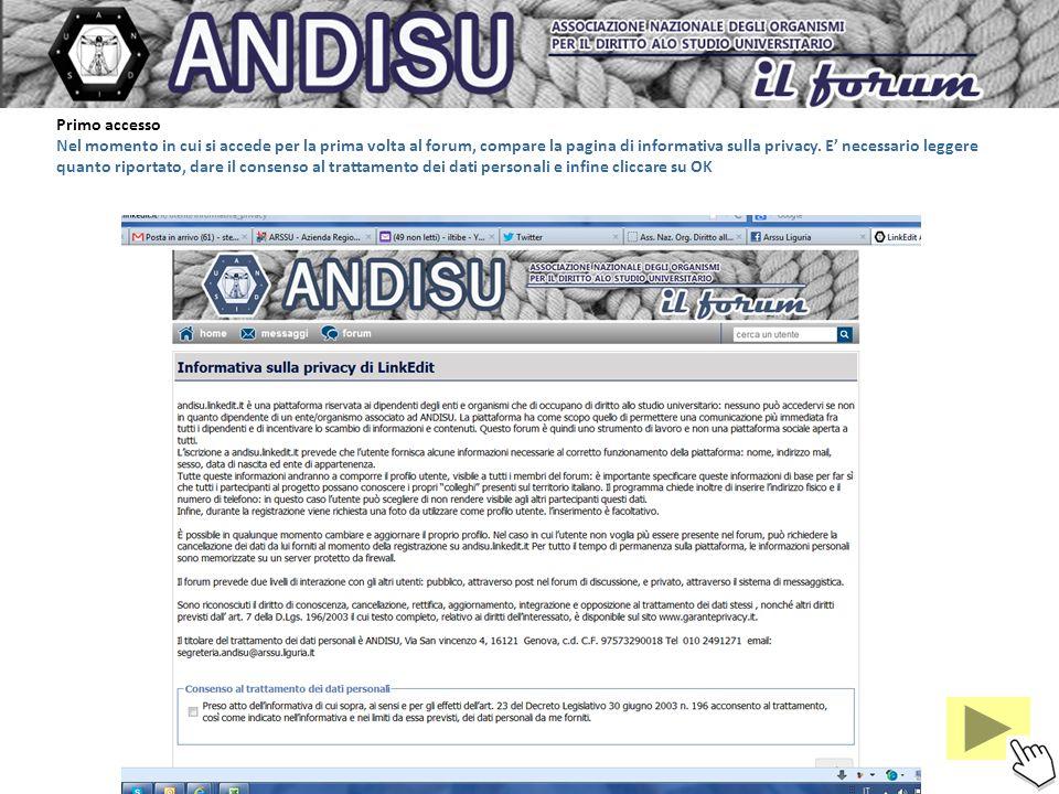ANDISU Forum istruzioni per luso: il forum