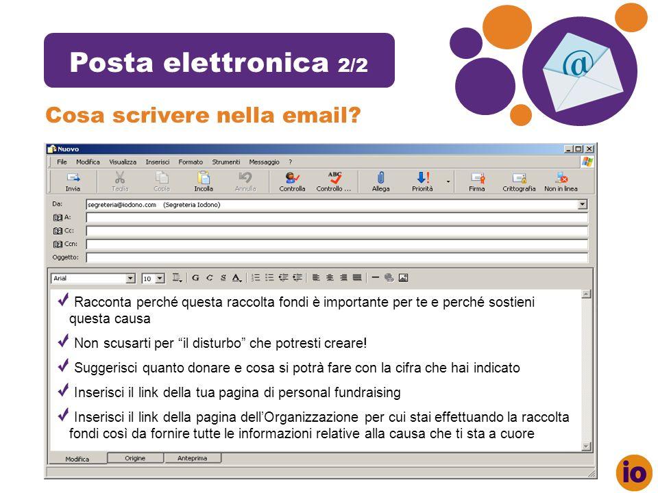 Indic e Posta elettronica 2/2 Cosa scrivere nella email.