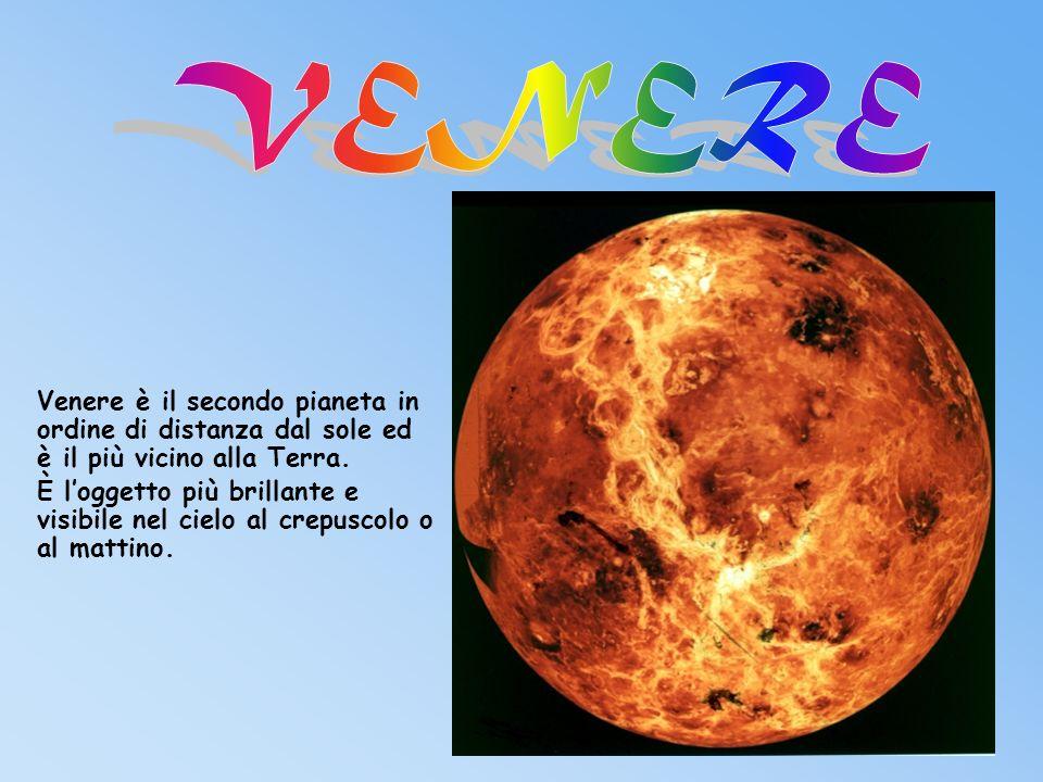 Venere è il secondo pianeta in ordine di distanza dal sole ed è il più vicino alla Terra.