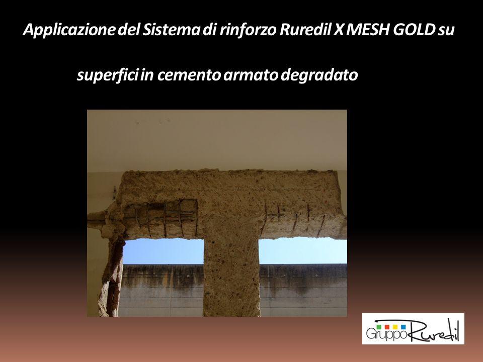 Applicazione del Sistema di rinforzo Ruredil X MESH GOLD su superfici in cemento armato degradato