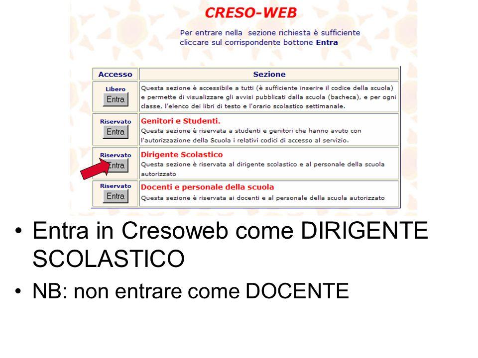 Inserire la password contenuta nella busta Inserire il cognome del coordinatore di classe