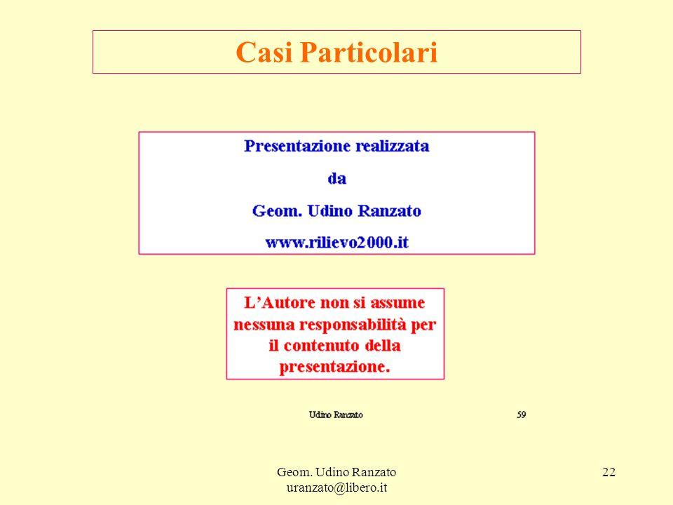 Geom. Udino Ranzato uranzato@libero.it 22 Casi Particolari