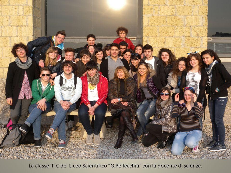 La classe III C del Liceo Scientifico G.Pellecchia con la docente di scienze.