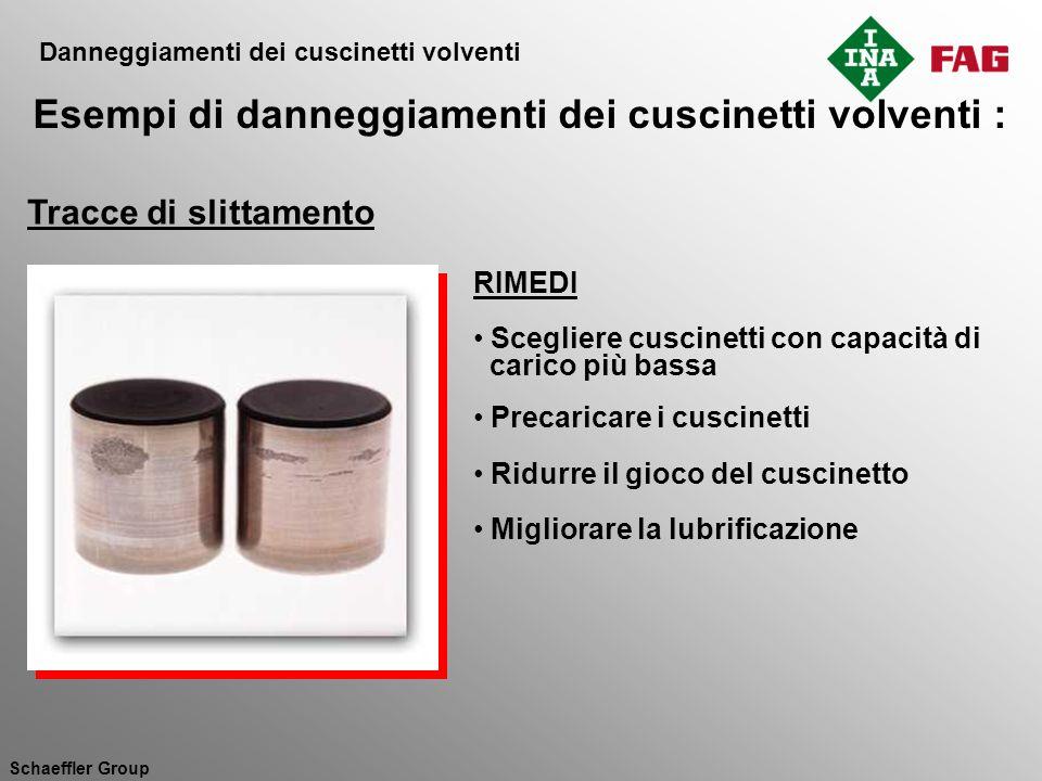 Schaeffler Group RIMEDI Scegliere cuscinetti con capacità di carico più bassa Precaricare i cuscinetti Ridurre il gioco del cuscinetto Migliorare la l