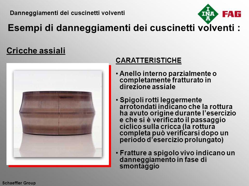 Schaeffler Group CARATTERISTICHE Anello interno parzialmente o completamente fratturato in direzione assiale Spigoli rotti leggermente arrotondati ind