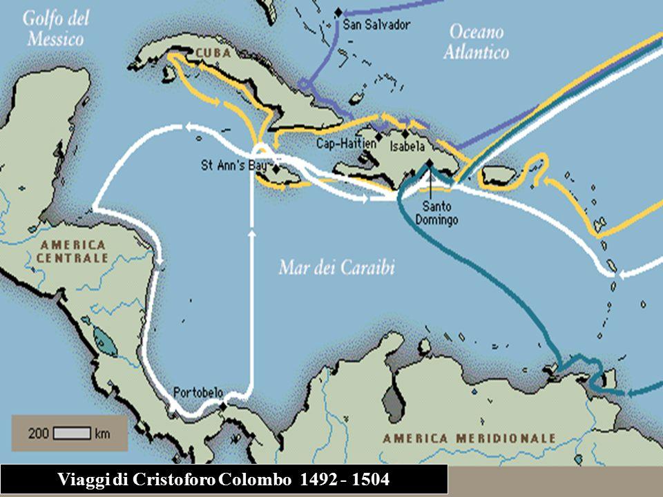 Viaggi di Cristoforo Colombo 1492 - 1504