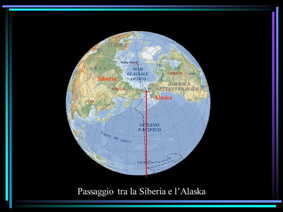 Passaggio tra la Siberia e lAlaska Siberia Alaska