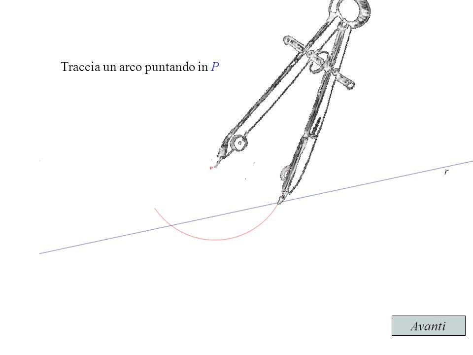 Traccia un arco puntando in P r Avanti
