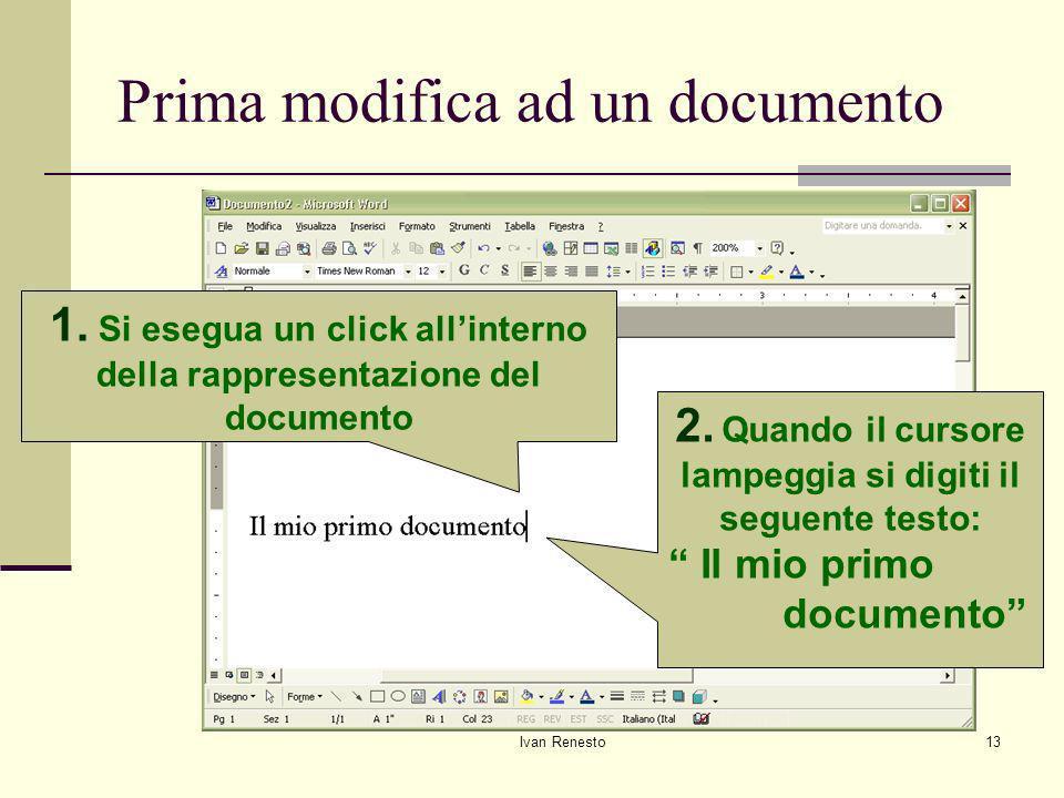 Ivan Renesto13 Prima modifica ad un documento 1.