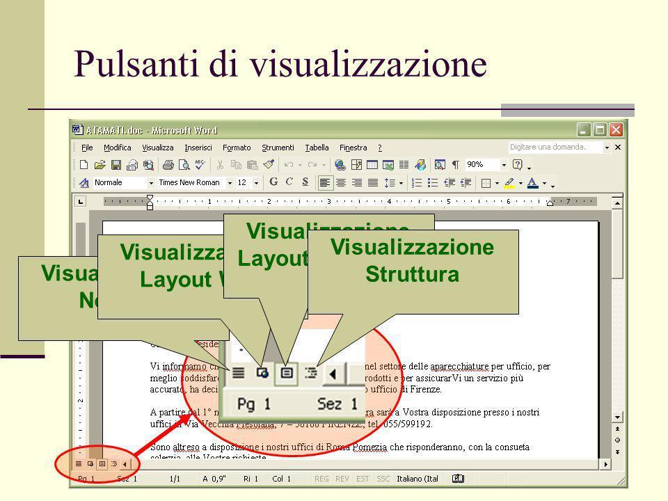 Ivan Renesto58 Pulsanti di visualizzazione Visualizzazione Normale Visualizzazione Layout Web Visualizzazione Layout di stampa Visualizzazione Struttura