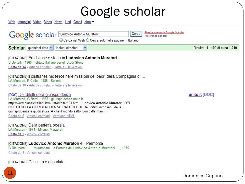 Google scholar Domenico Capano 11