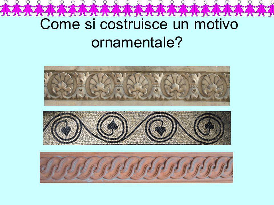Come si costruisce un motivo ornamentale?