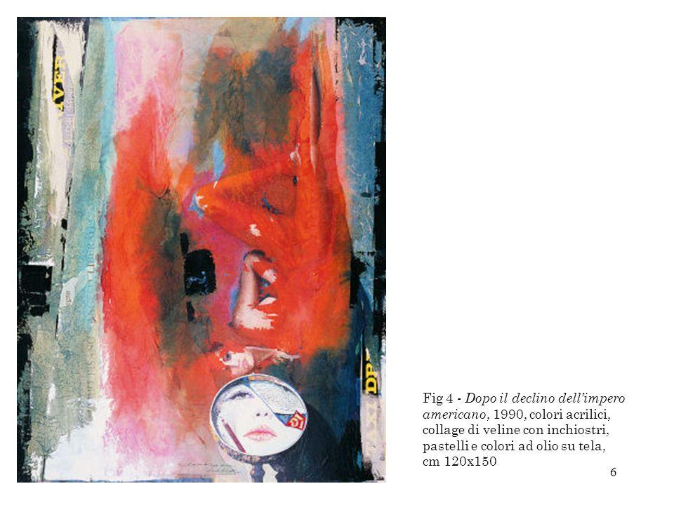 17 Fig 28 - Senza titolo,1981, collage, matite colorate, collage di veline colorate, colori acrilici e pastelli su cartoncino incollato su medium density, cm 56x76