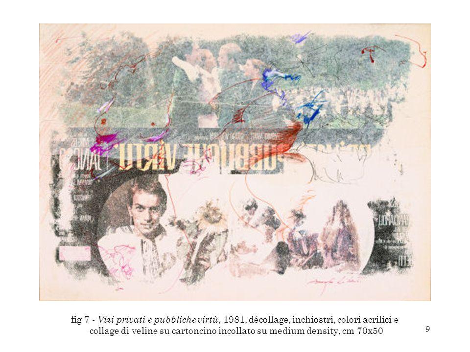10 fig 12 - Senza titolo, 2000-2004, décollage, matite colorate, colori acrilici, collage di veline colorate e colori ad olio su cartoncino incollato su medium density, cm 76x56