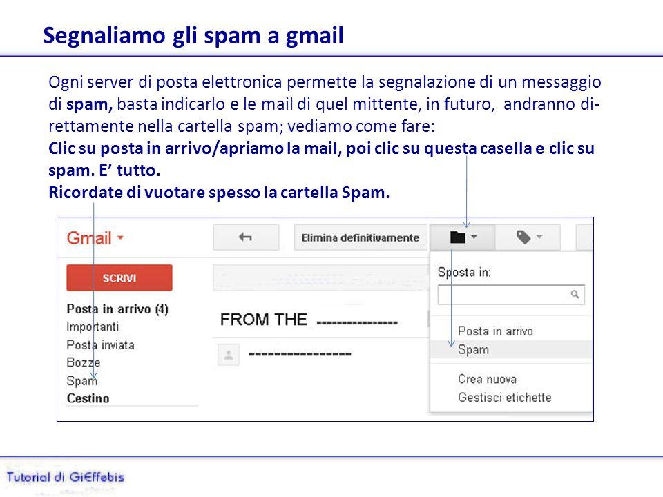 Esempio: posta del ricevente su gmail Ecco qui la mail spedita da alice.it (Outlook Express) verso gmail: è indicata la provenienza e il destinatario (solo linteressato), nessuna traccia di altri indirizzi!