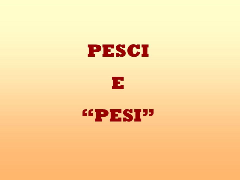 PESCI E PESI