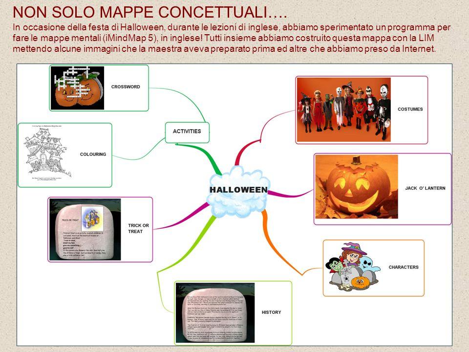 NON SOLO MAPPE CONCETTUALI…. In occasione della festa di Halloween, durante le lezioni di inglese, abbiamo sperimentato un programma per fare le mappe