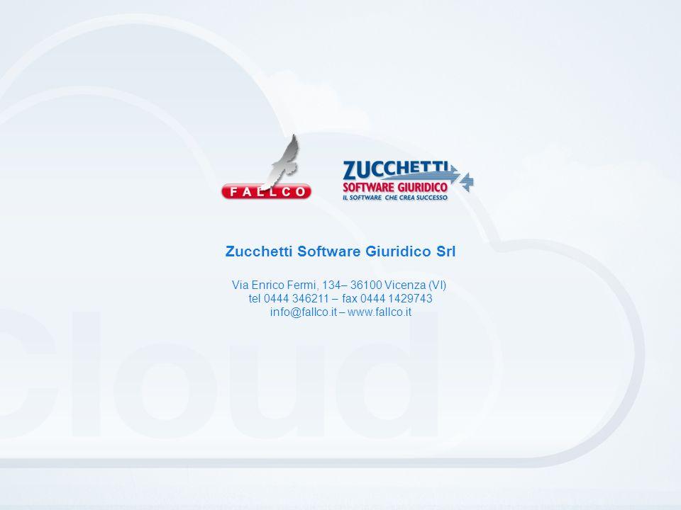 Zucchetti Software Giuridico Srl Via Enrico Fermi, 134– 36100 Vicenza (VI) tel 0444 346211 – fax 0444 1429743 info@fallco.it – www.fallco.it