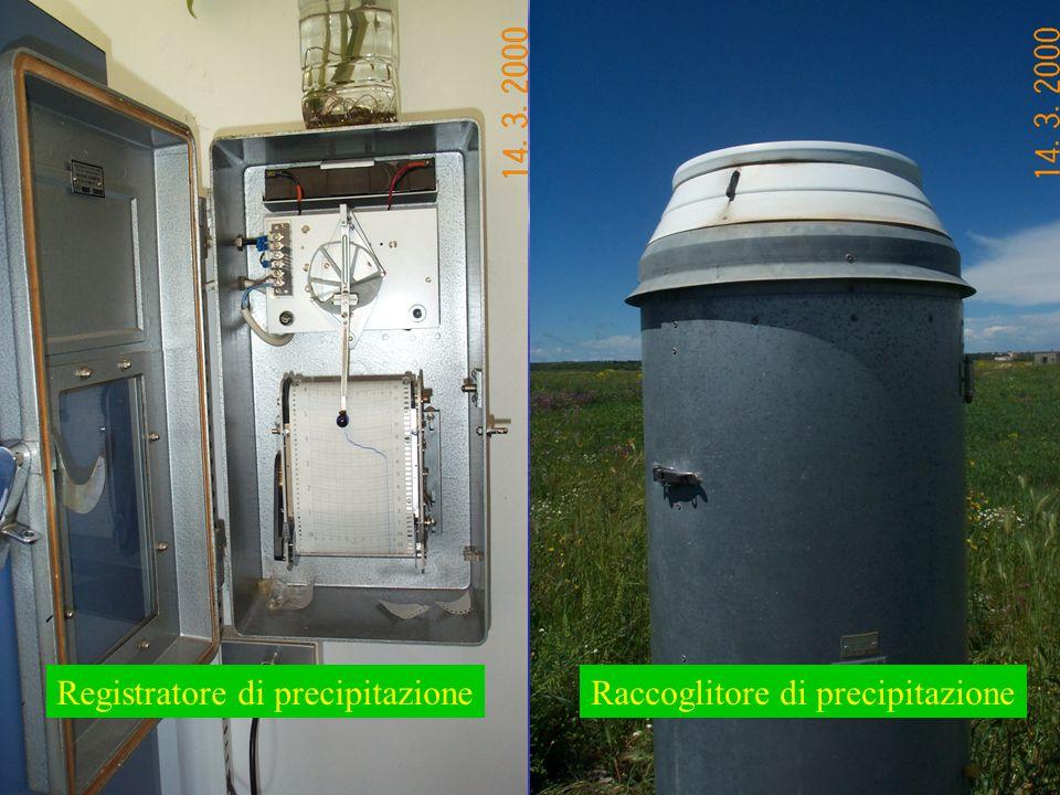 Registratore di precipitazioneRaccoglitore di precipitazione