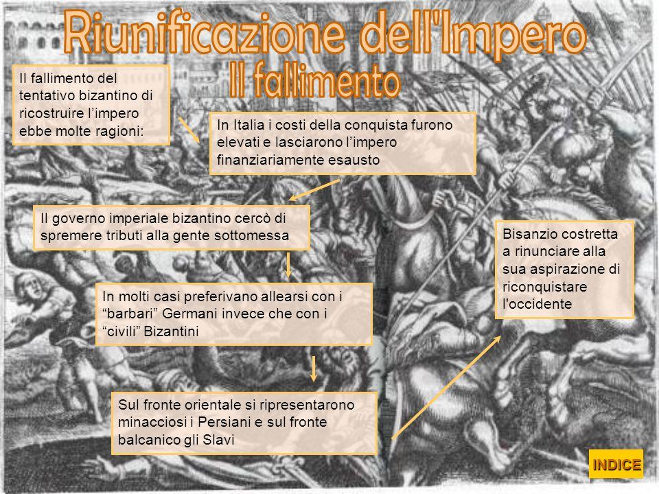 In Italia i costi della conquista furono elevati e lasciarono limpero finanziariamente esausto Il governo imperiale bizantino cercò di spremere tribut