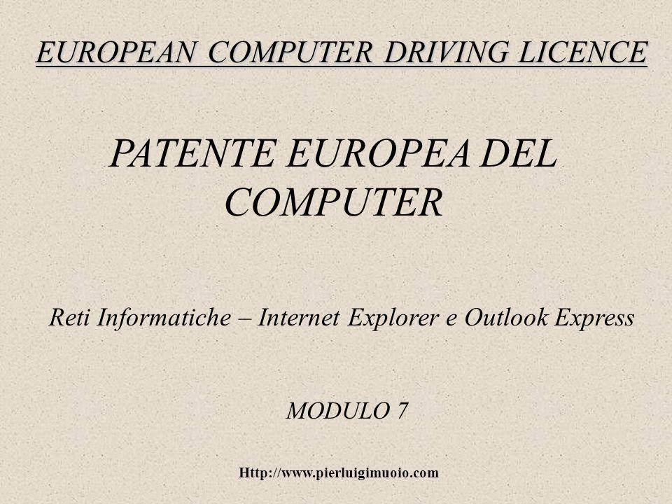 Http://www.pierluigimuoio.com Outlook Express: la rubrica La rubrica è un archivio che contiene i contatti di posta elettronica.