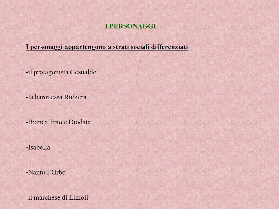 LA CRONOLOGIA E LA STRUTTURA Tempo e luogo -lazione si svolge nei pressi di Catania, anche se il luogo non è precisato -larco di tempo preso in considerazione copre circa 30 anni (dal 1820 al 1849) Struttura -ventuno capitoli suddivisi in quattro parti, ognuna delle quali rappresenta una fase della vita di Gesualdo.
