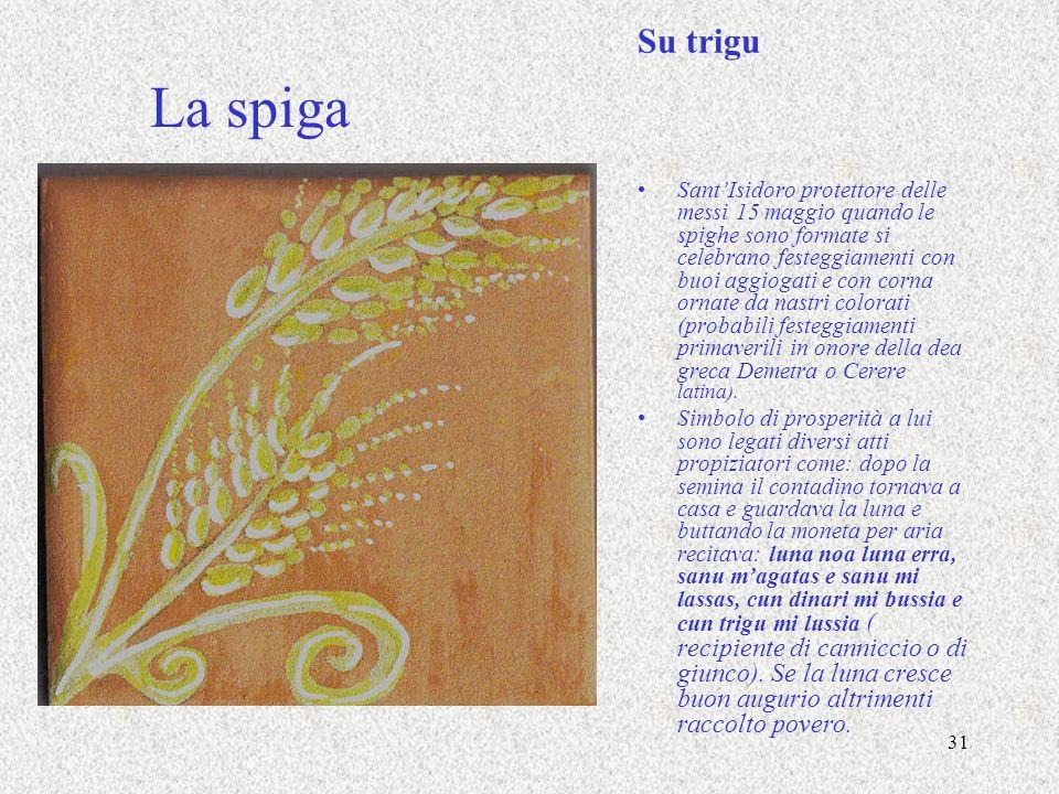 31 La spiga Su trigu SantIsidoro protettore delle messi 15 maggio quando le spighe sono formate si celebrano festeggiamenti con buoi aggiogati e con c