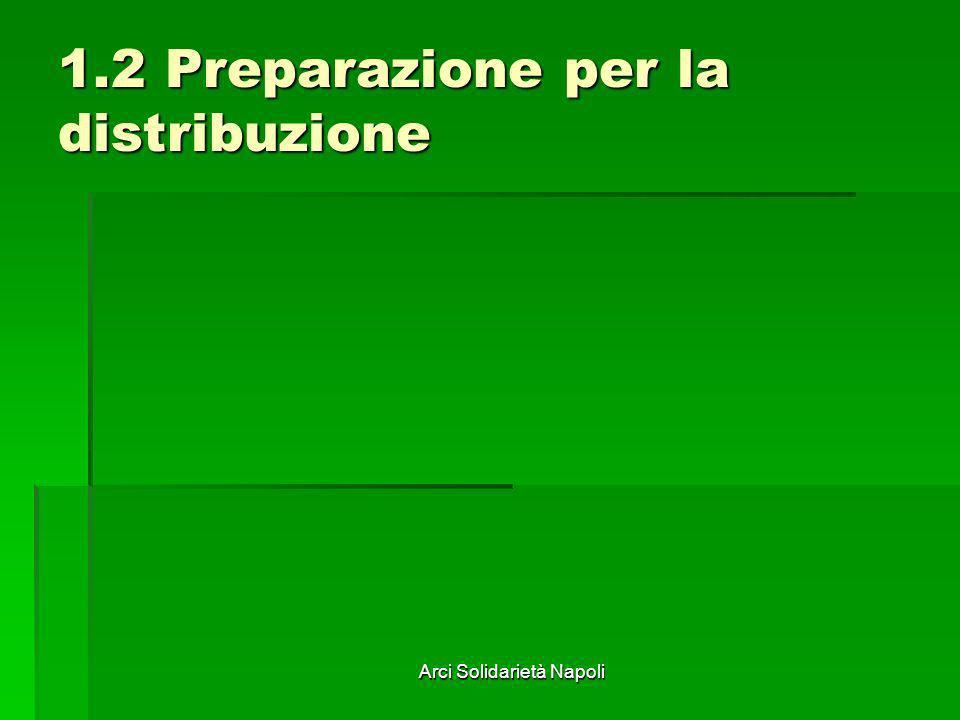 Arci Solidarietà Napoli 1.2 Preparazione per la distribuzione