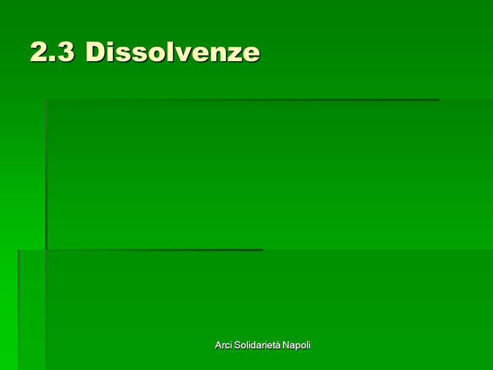 Arci Solidarietà Napoli 2.3 Dissolvenze
