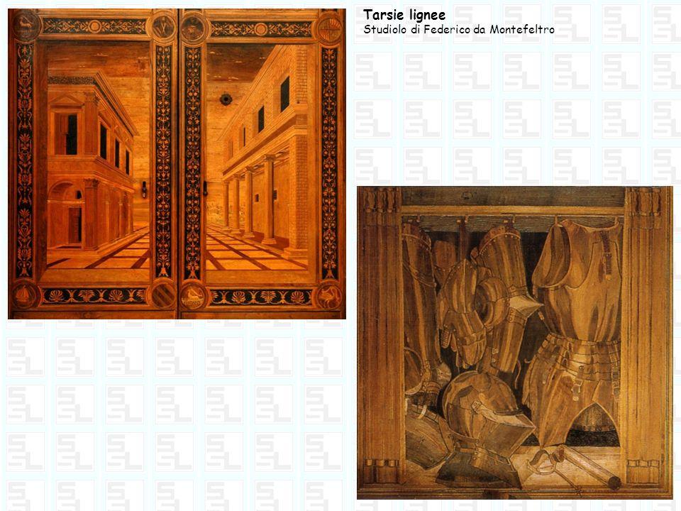 Federico da Montefeltro chiamò a lavorare alla sua corte il pittore PIERO DELLA FRANCESCA (1416 - 1492) che realizzò il ritratto di Federico e della moglie Battista Sforza.