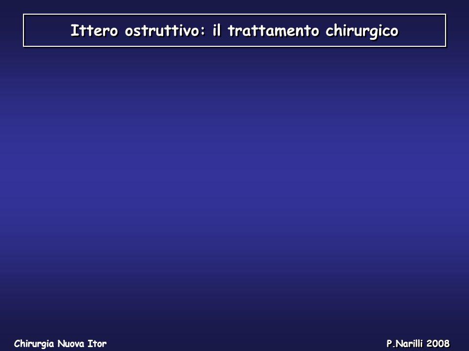 Ittero ostruttivo: il trattamento chirurgico Chirurgia Nuova Itor P.Narilli 2008