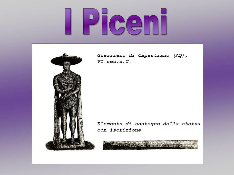 Guerriero di Capestrano (AQ), VI sec.a.C. Elemento di sostegno della statua con iscrizione
