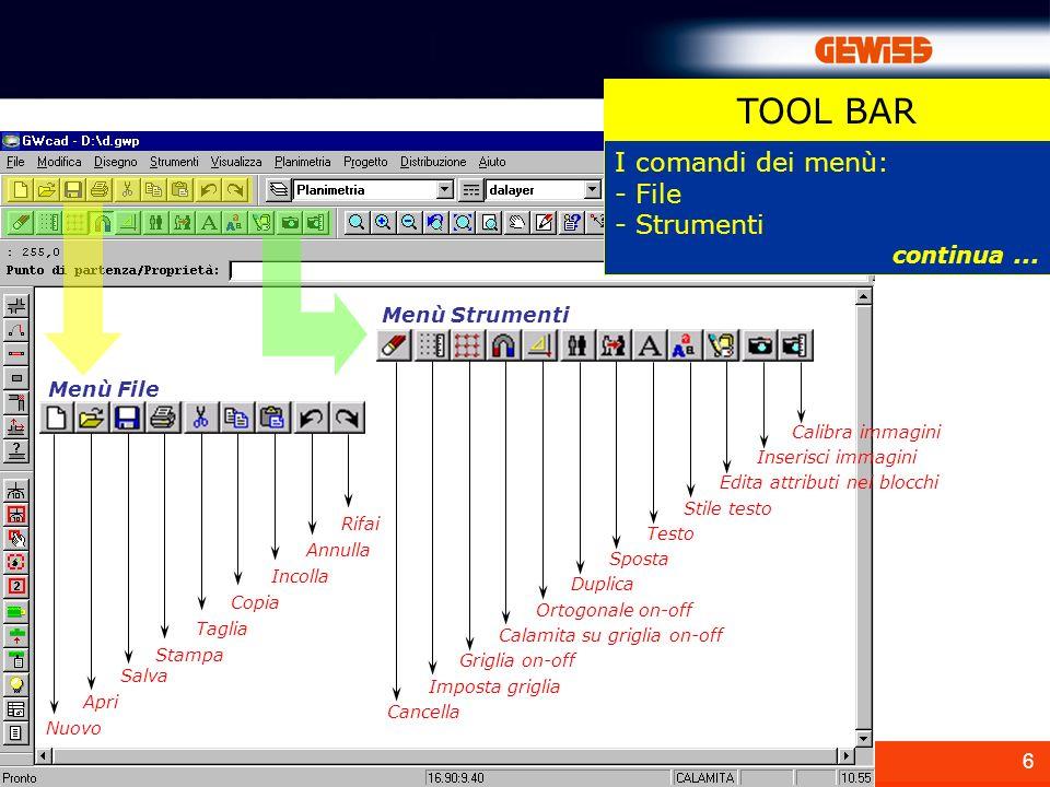17 In Visualizza sono presenti i comandi per la visualizzazione del disegno.