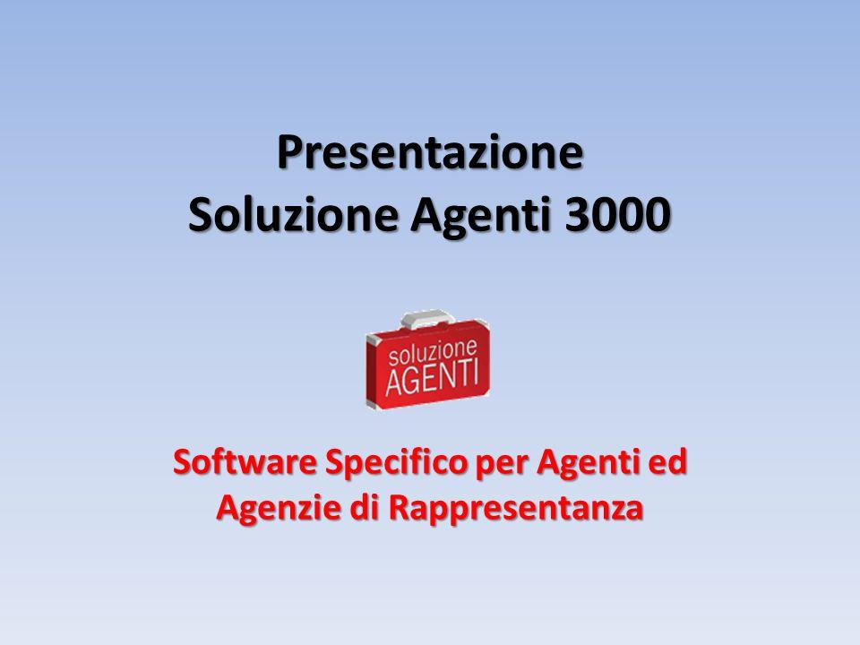 Soluzione Agenti 3000 Software Specifico per Agenti ed Agenzie di Rappresentanza www.SoluzioneAgenti.IT