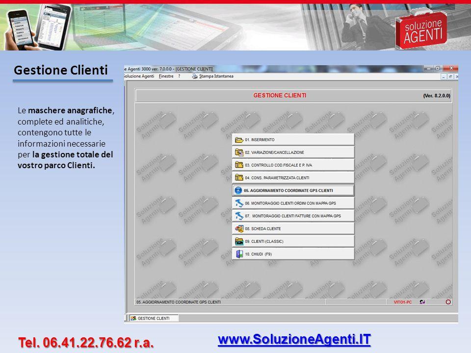 Grafici Provvigionali Tutte le informazioni utili raggruppate in una vera e propria Fotografia Completa del Cliente.