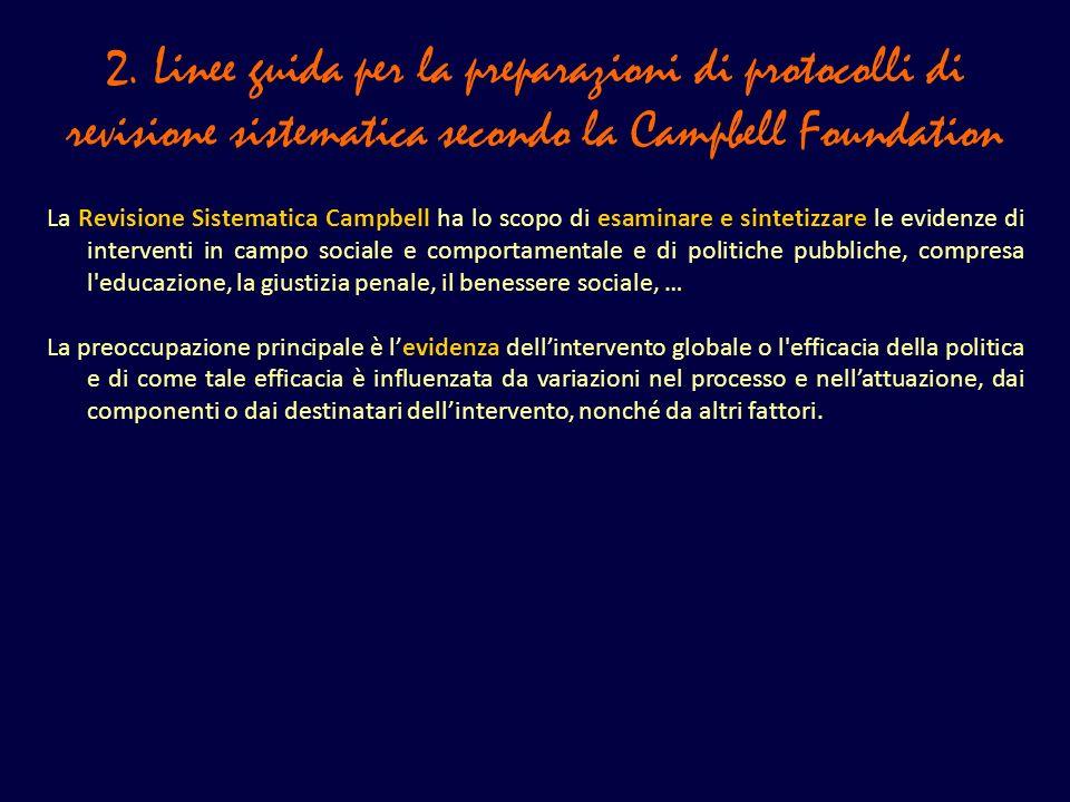 3.Lanalisi statistica nella Campbell Collaboration 5.